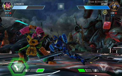 Transformers Forged to Fight G1 Bludgeon vs. AOE Drift