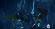 Dreadwing and Optimus duel