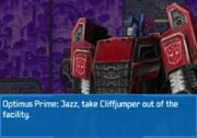 Rise of the Dark Spark 3DS Optimus Getting Rid of Companions