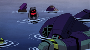 Lugnut and Blitzwing Floating in the Water