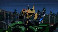 As the Kospego Commands! Grimlock down
