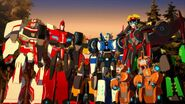 Sideswipe, Grimlock, Fixit, Toolbox, Drift, Windblade, Ratchet and Strogarm
