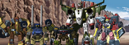 Hot Shot, Overhaul, Scattershot, Landmine and Jetfire