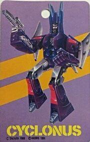 Transformers 2010 Cyclonus Card Front