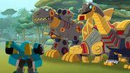 Hoist with Dinobots