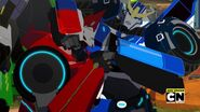 Overloaded part 1 Sideswipe and Strongarm fight