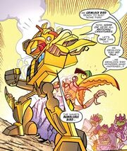 Angry Birds Transformers Bumblebee and Grimlock Cyberformed