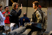 TF 5 Set Michael Bay Josh Duhamel