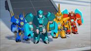Windstrike, Buzzstrike, Lancelon and Bashbreaker