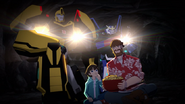 Russell and Denny with Bumblebee and Strongarm