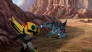 Bumblebee vs. Steeljaw (Combiner Force)
