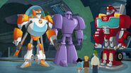 Heatwave, Cody, Frankie, Graham, Blades, and Blurr
