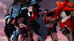 Rebellion screenshot Ultra Magnus with Optimus Prime