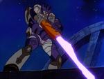 Galvatron in battle on Cybertron (G1)