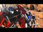 Optimus, Smokescreen and Arcee