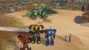 Robots in Disguise Episode 7 Grimlock as a Truck