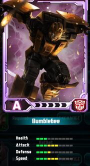 Transformers Rising Bumblebee Card
