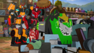 Grimlock, Drift, Russell, Denny, and Sideswipe (S3E13)
