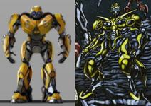 Cybertronian bumblebee comparison