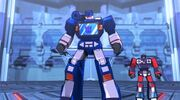 Transformers Devastation Ferrotaxis Soundwave and Rumble