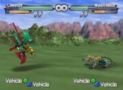 Beast Wars Transmetals Cheetor VS Waspinator
