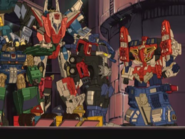 Optimus, Ironhide, Wing Saber, Superion Maximus and Ironhide's Fans