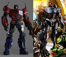 Cybertronian optimus prime comparison