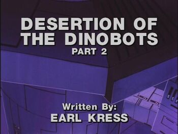 Desertion of the Dinobots 2 title shot