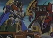 Transformers Zone Abominus and Menasor Fighting Micromaster