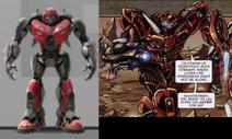 Cybertronian cliffjumper comparison