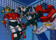 Optimus y sus autobots
