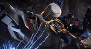 Wheeljack and Ultra Magnus battle