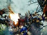 Batalla Forest Battle Optimus Vs Decepticons