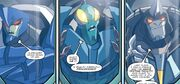 Robots in Disguise issue 02 Flamefeather Spinhead and Transit in Capsules
