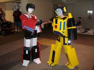 Sideswipe Sunstreaker cosplay by birdewilliams