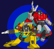 Mono phos sideswipe and sunstreaker colored by kenaiwolf-d6uf276