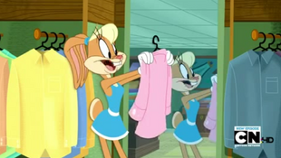 Lola Choosing Bugs a Shirt
