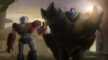 Optimus Prime and Megatron before war