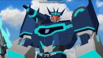 Transformers robots in disguise 2015 Steeljaw and Soundwave scene
