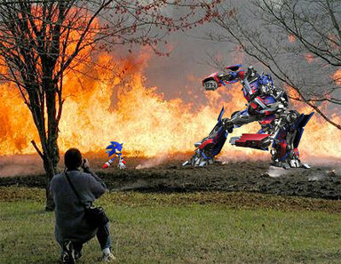 Sonic vs optimus prime
