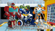 Rescue Bots with the Burns Family