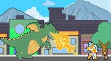 AVirtualDisaster dragon chasing Blades and Cody