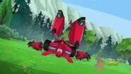 Sideswipe was thrown to the ground