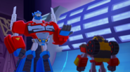 Hot Shot and Optimus