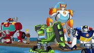 Cody and Rescue Bots on Waters.
