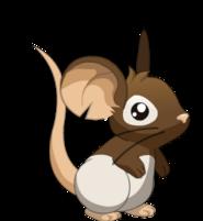 Fourrure avec tête brune