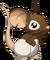 Fourrure blanche à tête brune
