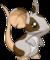 Fourrure grise à taches brunes
