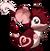 Fourrure de coeur rouge