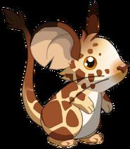 Fourrure de girafe render